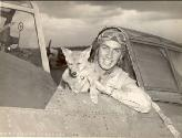 Wild Bill Crump and his mascot Jeep N.M.I. Coyote